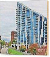 Ascent Building Near Roebling Bridge 9854 Wood Print