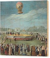 Ascent Of A Balloon In The Presence Of The Court Of Charles Iv Wood Print