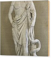 Asclepius. 4th C. Bc. Classical Greek Wood Print