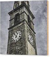 Ascona Clock Tower Wood Print