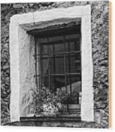 Ascona Window Bw Wood Print