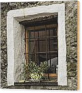 Ascona Window Wood Print