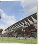 Ascot Races Wood Print