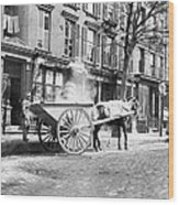 Ash Cart New York City 1896 Wood Print by Unknown