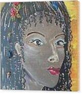 Ashanti Wood Print by Karen Carnow