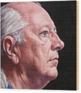 Ashby's Portrait Wood Print by Deborah Allison