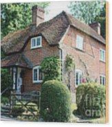 Ashers Farmhouse Five Bells Lane Nether Wallop Wood Print