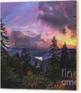 Asheville Heaven Wood Print
