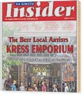Asheville Insider Magazine Wood Print