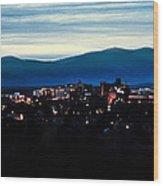 Asheville Skyline Wood Print