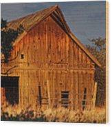 Ashland Barn In Evening Light Wood Print