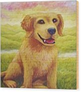 Ashly's Retriever   Wood Print