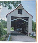 Ashtabula Collection - Mechanicsville Road Covered Bridge 7k0207 Wood Print