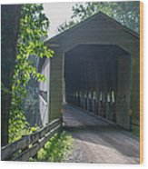 Ashtabula Collection - Middle Road Covered Bridge 7k01959 Wood Print
