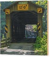 Ashtabula Collection - Olin's Covered Bridge 7k01978 Wood Print