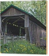 Ashtabula Collection - Riverdale Road Covered Bridge 7k02981 Wood Print