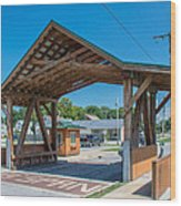 Ashtabula Collection - West Liberty Covered Bridge 7k02064 Wood Print