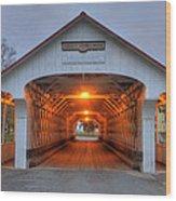 Ashuelot Covered Bridge Wood Print