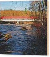 Ashuelot Covered Bridge Scene Wood Print