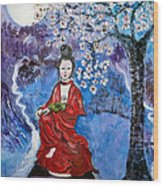 Asian Beauty Wood Print
