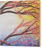 Asian Bloom Triptych 3 Wood Print