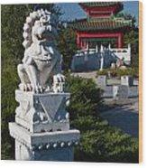 Asian Gardens Wood Print