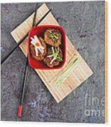Asian Meatballs 1 Wood Print by Jane Rix