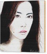 Asian Model II Wood Print