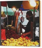 Asian Pears - Chinatown New York  Wood Print