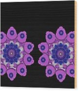 Asian Purple Orchids Wood Print