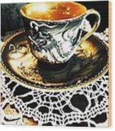 Asian Teaware Wood Print