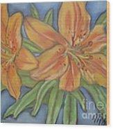 Asiatic Lilies Wood Print