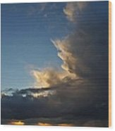 Asilomar State Beach Storm Wood Print by Elery Oxford
