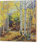 Aspen Cabin Wood Print