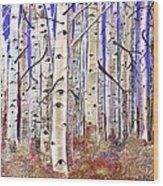 Aspen Eyes Wood Print