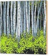 Aspen II Wood Print