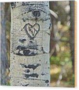 Aspen Love Wood Print