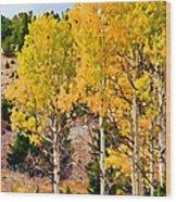 Aspen Meadows II Wood Print