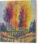 Aspen Overlook Wood Print