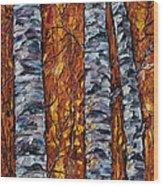 White Trees  Original Oil Painting  Wood Print