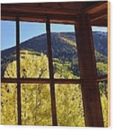 Aspen Window 2 Wood Print