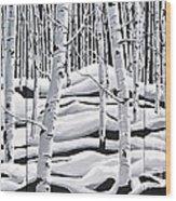 Aspens Triptych Wood Print