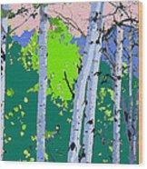 Aspensincolor Green Wood Print