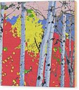 Aspensincolor Redorange Wood Print