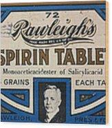 Aspirin 5 Grains Wood Print