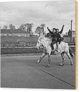 Aspiring Cowboys In Dublin 1961 Wood Print