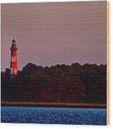 Assateague Lighthouse At Sunset Wood Print