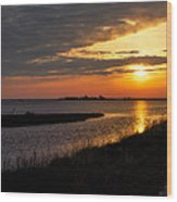 Assateague Sunrise Vertical Wood Print