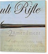 Assault Rifle Wood Print by GCannon