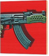 Assault Rifle Pop Art - 20130120 - V1 Wood Print